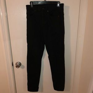 Black American Eagle High-Waisted Girlfriend Jeans